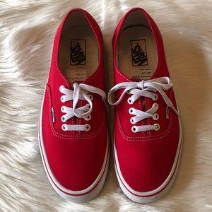 Vans Shoes - Vans Red Core Classic Low Top Skate Sneakers 10